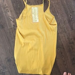 Gap yellow tank with sequins